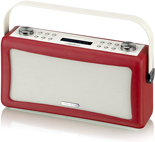 View Quest 'hepburn' Bluetooth Audio System With Dab Radio Red Rhamazoncouk: 91f Radio Set At Gmaili.net