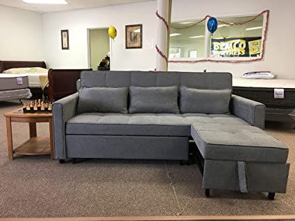 Amazoncom Sleeper Sofa All In One Gray Kitchen Dining