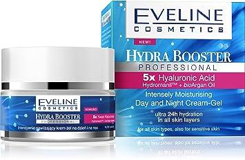 Eveline Cosmetics Hydra Booster Day and Night Cream Gel 50ml Pevonia Botanica - soothing Sensitive Skin Care Cream (1.7 oz)