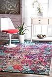 nuLOOM ECCR20A Multi Reva Abstract Area Rug, 8' x 10', Multicolor