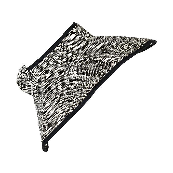 76ca718a240 D Y Sparkle Sun Visor Wide Brim Braided Straw Summer Sun Protection Roll up  Foldable Beach Hat