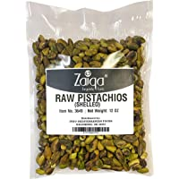Pistachios with No Shell, Raw & Unsalted Nuts, Pasteurized, California Grown | Tasty & Fresh | Use as Paste, in Ice Cream, On The Go Super Snack, Baklava & Turkish Delight 12oz