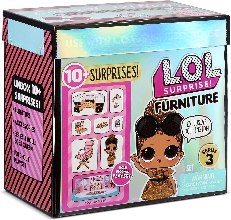 L.O.L. Surprise! Muñecas Coleccionables para Niñas - con 10 Sorpresas y Accesorios - Boss Queen - Mobiliario Serie 3: Amazon.es: Juguetes y juegos