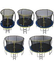Zero Gravity Garten-Trampolin Ultima 4 für Kinder, mit Sicherheitsnetz und Leiter, blau/gelb