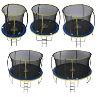 Zero Kinder Ultima 4 with Safety Enclosure Netting and Ladder High Spec Trampoline