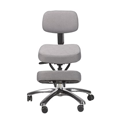buy betterposture jazzy kneeling chair with back grey online at