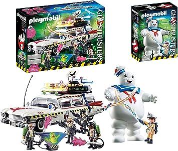 Outletdelocio. Set Playmobil Ghostbusters Nueva Version. Coche Cazafantasmas con Muñeco Marshmallow. 113 Piezas.: Amazon.es: Juguetes y juegos