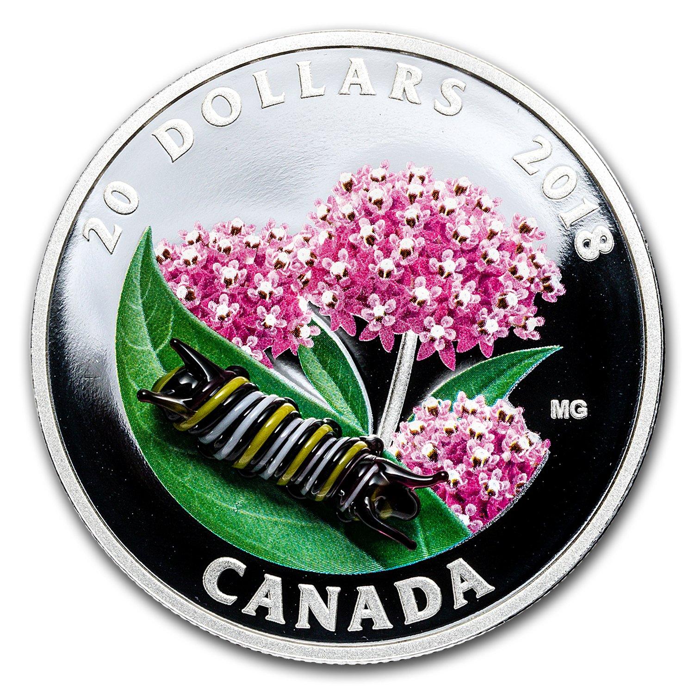 Canada 2016 $20 Little Creatures Snail Silver Coin  ** Venetian Glass Snail **