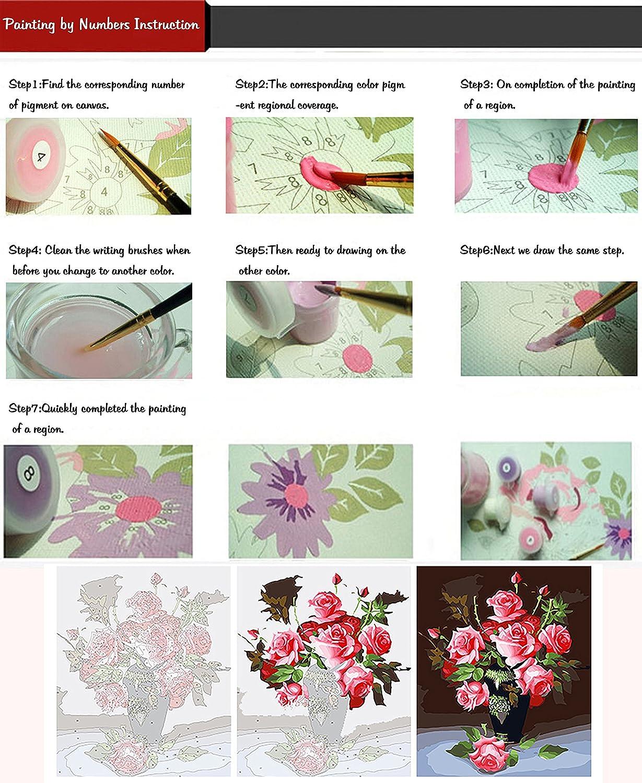 Fuumuui Lienzo de Bricolaje Regalo de Pintura al /óleo para Adultos ni/ños Pintura por n/úmero Kits Decoraciones para el hogar-Cisnes y Ballet 16 20 Pulgadas