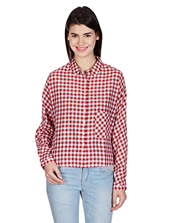 Pepe Women's Button Down Shirt Shirts at amazon