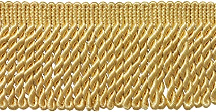 Style# BFS3 Color B7 Sold By the Yard 3 Inch Long LIGHT GOLD Bullion Fringe Trim