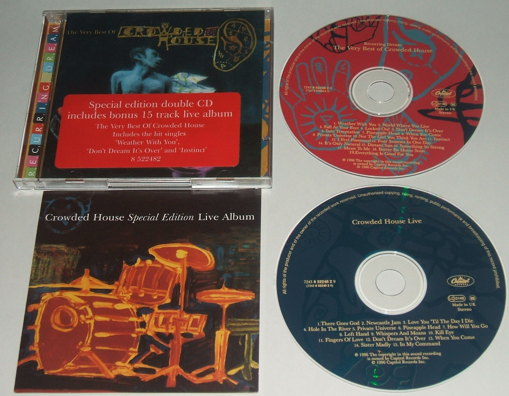 very best of CROWDED HOUSE  1996 SPECIAL EDITION DOUBLE CD