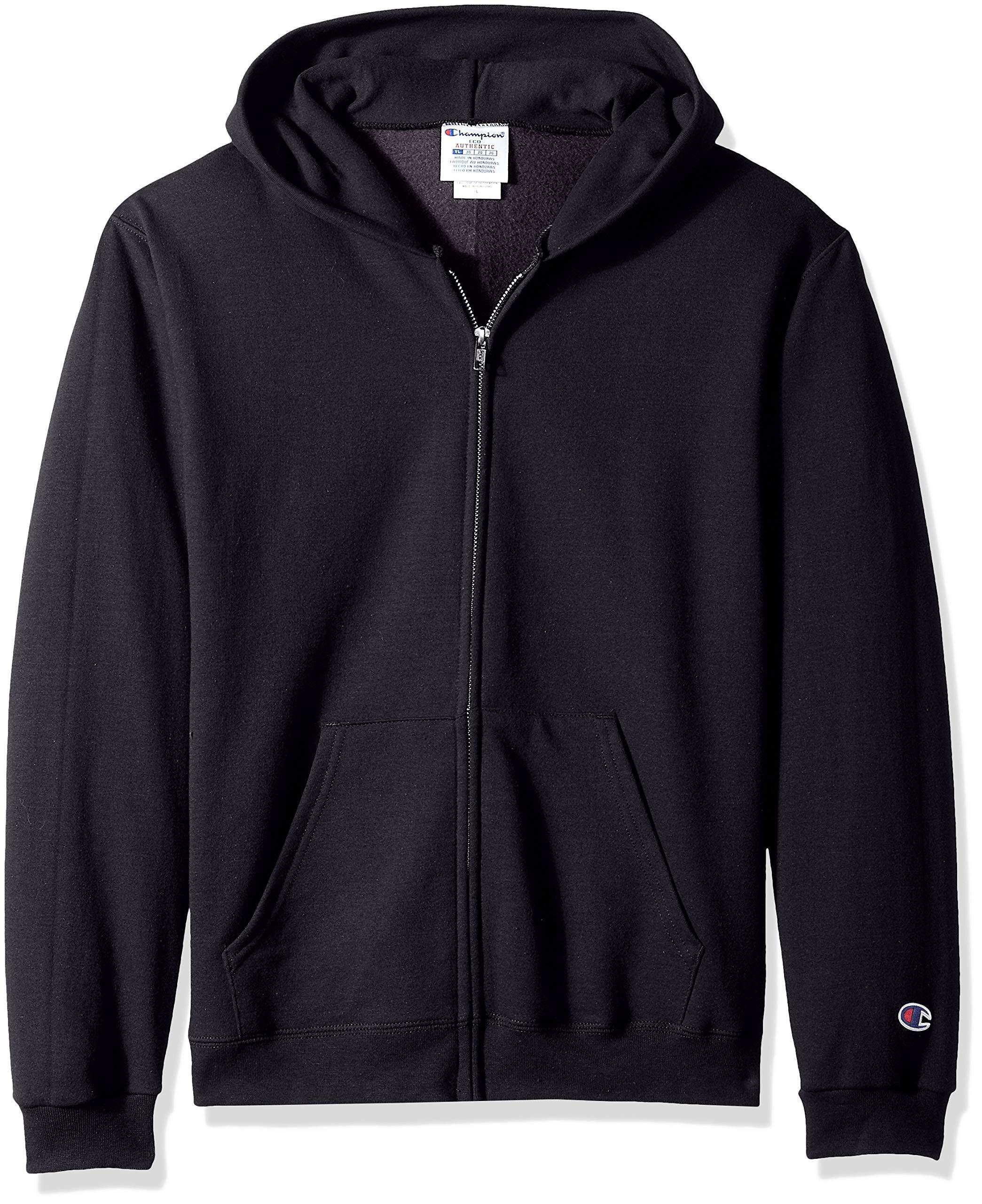 Champion Boys' Double Dry Fleece Full Zip Hooded Sweatshirt