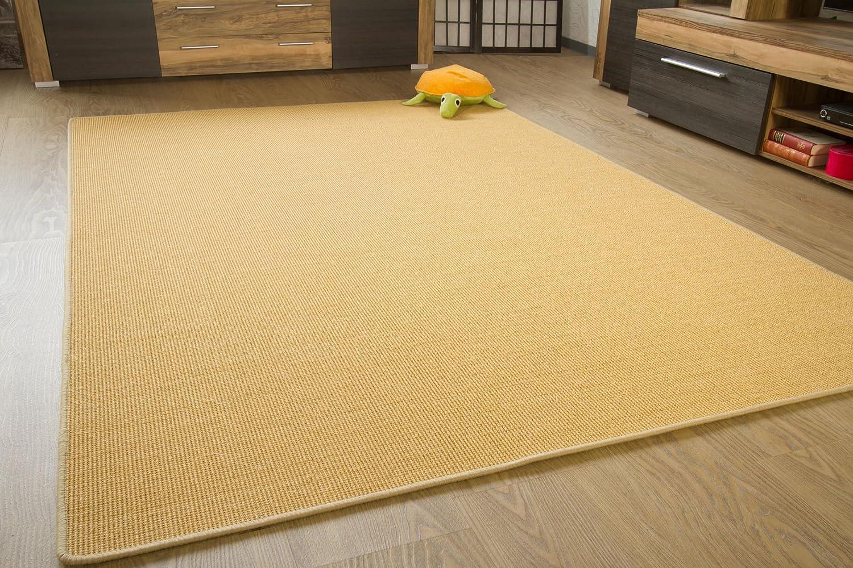 Sisal Teppich Acapulco - gekettelter Sisalteppich aus 100% Sisal in 2 Farben, Größe  140x200 cm