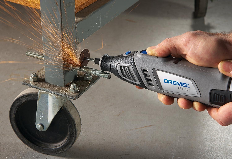 using a Dremel 8100 to cut through a lag bolt