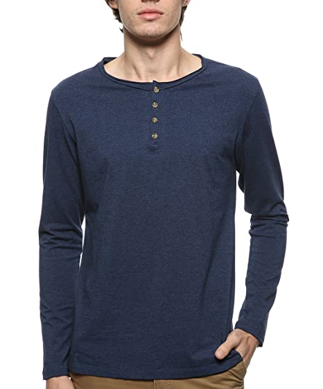 7a64dd5d081 BYLUNTA Men s Slim Fit Cotton Long Sleeve Sport Henley T-Shirt at Amazon Men s  Clothing store