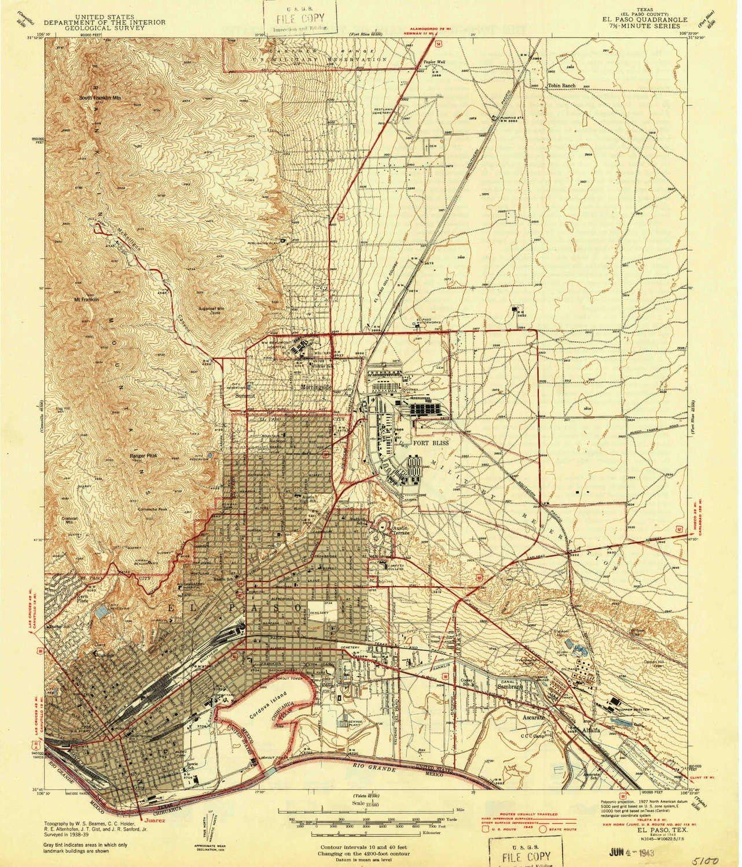 Amazon Com Yellowmaps El Paso Tx Topo Map 1 31680 Scale 7 5 X