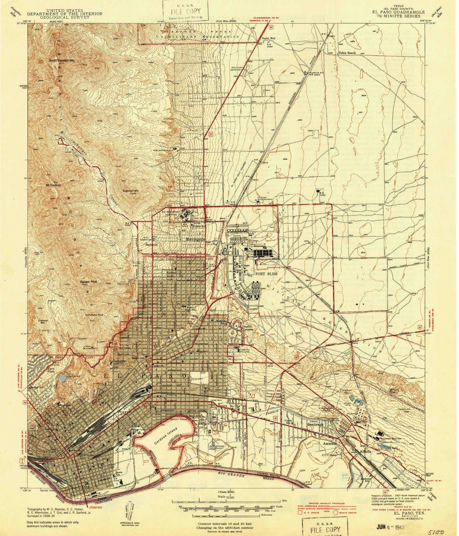 Amazon.com: YellowMaps El Paso TX topo map, 1:31680 Scale, 7.5 X 7.5 ...
