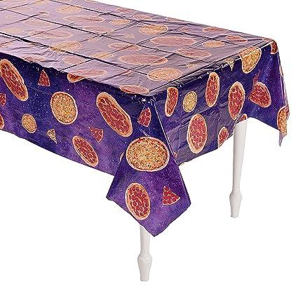 amazon com fun express pizza party tablecloth 54 x 104 toys