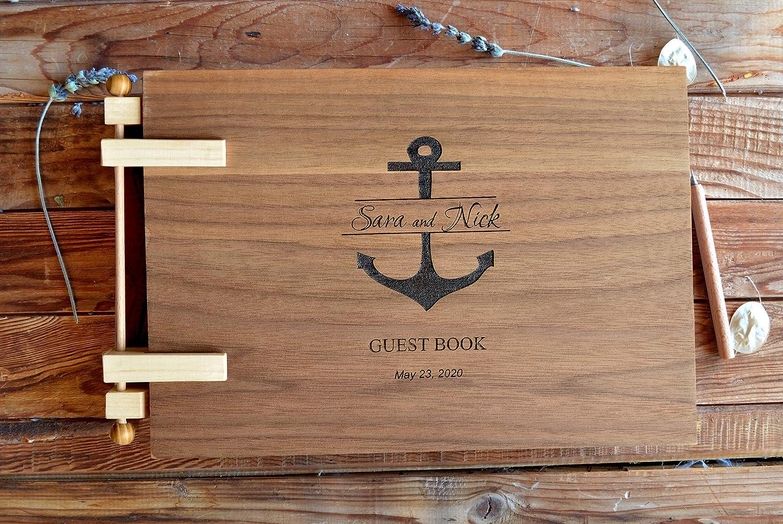 Wedding Guest Book Navy Wedding Guestbook Anchor Guest Book Wedding Guestbook Nautical Wedding Nautical Beach Wedding Wedding Book