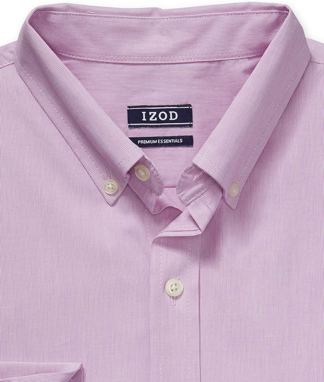 IZOD Mens Big and Tall Button Down Long Sleeve Stretch Performance Solid Shirt