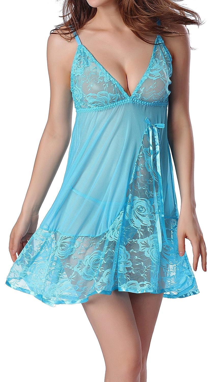 American Trends Women's Strap Babydolls Sleepwear Lingerie Lace Outfits G-String ATACAS0825G0000