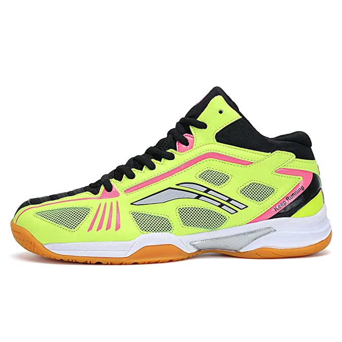 Amazon.com | Fashiontown Badminton Shoes Men Non Slip Indoor Court Tennis Racquetball Sneakers Comfy Training Shoe Yellow | Road Running
