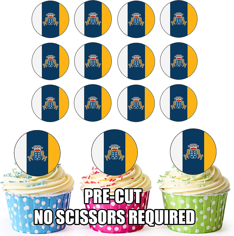 24 St/ück Motiv Kanarische Inseln AK Giftshop Essbare Cupcake-Dekoration