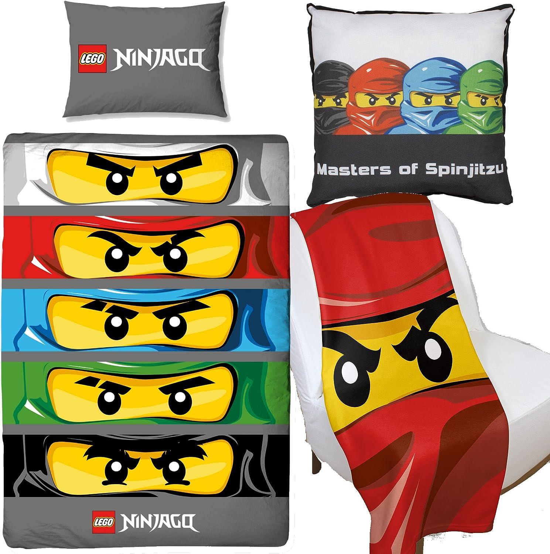 LEGO Ninjago ojos funda de edredón y lona cojín y manta de forro polar  juego de muebles para dormitorio