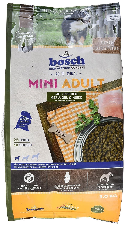 Bosch Mini Croquette Volaille/Millet pour Chien Adulte Petite Race 3 kg 4015598013109