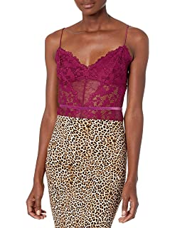 Amazon.com: Guess sin mangas de la mujer Tony Lace Bodysuit ...