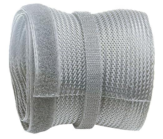 RICOO Cache Cable Aluminium Design Z0100S entr/ée avec m/écanisme dinsertion Rail TV pour Rangement de c/âbles Angle Bureau Maison Passe Conduit Fixation Support Mural Gaine goulotte Organizer Argent