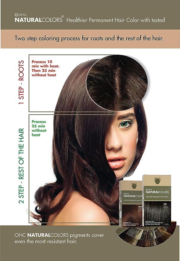ONC NaturalColors - Tinte orgánico para cabello, tinte permanente, 29 tonos, calidad de salón, sin amoníaco ni resorcinol, sin parabenos