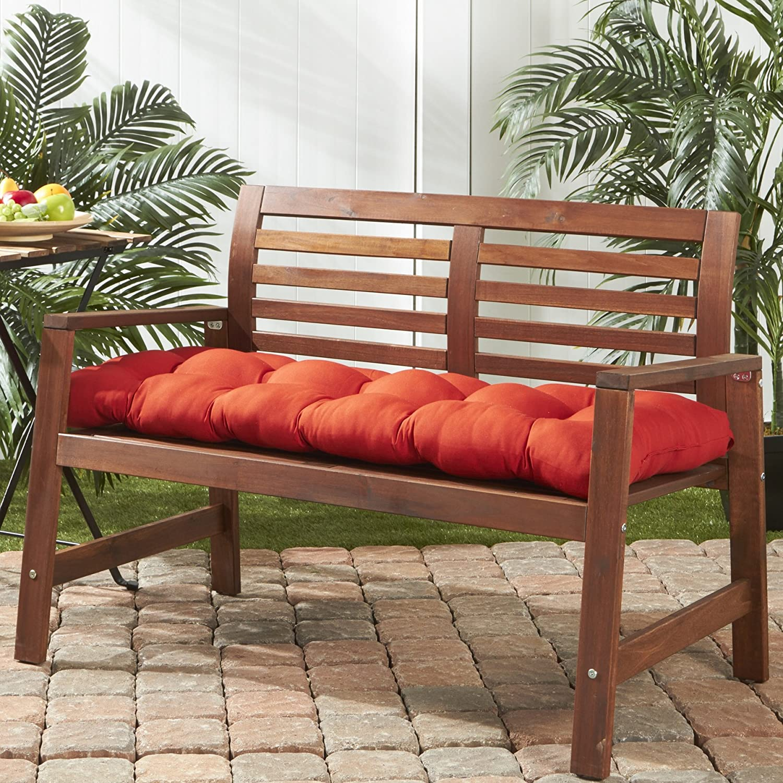 Amazon Com Greendale Home Fashions 51 Inch Indoor Outdoor Bench Cushion Salsa Garden Outdoor