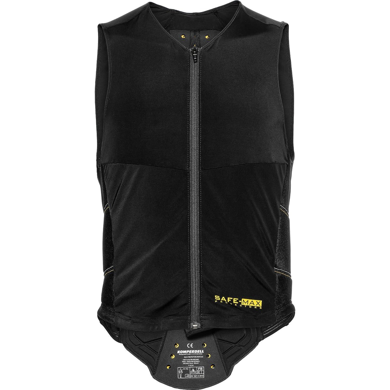 XXL // 2XL stufenloser anpassbarer Nierengurt integrierter Schwarz M Protektorenshirt Safe Max/® Motorrad-Protektorweste R/ückenprotektorenweste 1.0 besonders atmungsaktive Schutzzone