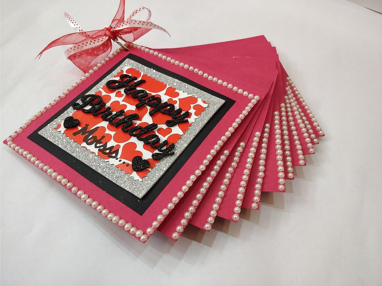 Beautiful Handmade Scrapbook for Birthday