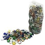 Dashington Flat Mixed Color Glass Gems, Marbles