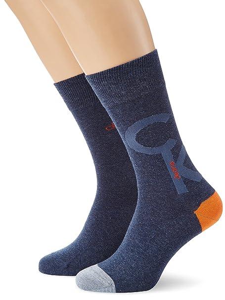 Calvin Klein socks Finn - Calcetines para hombre, color denim mel.-2 522