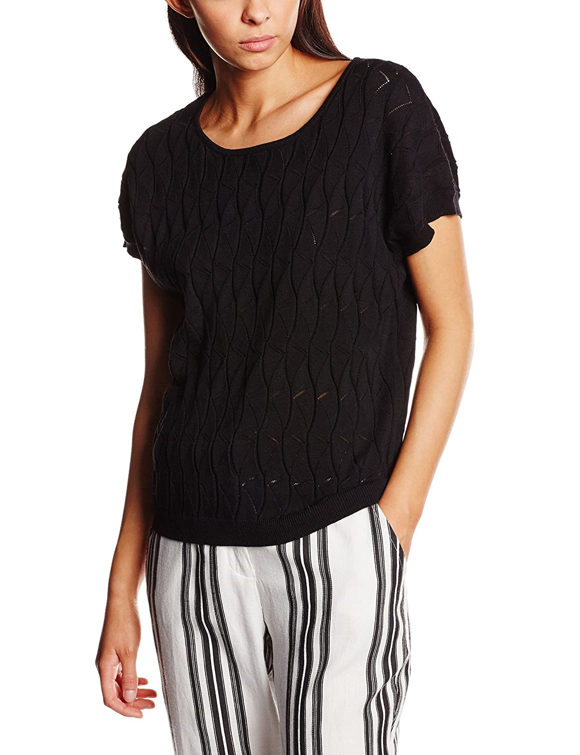 Pepaloves Sweater Pointelle Black, Jersey para Mujer