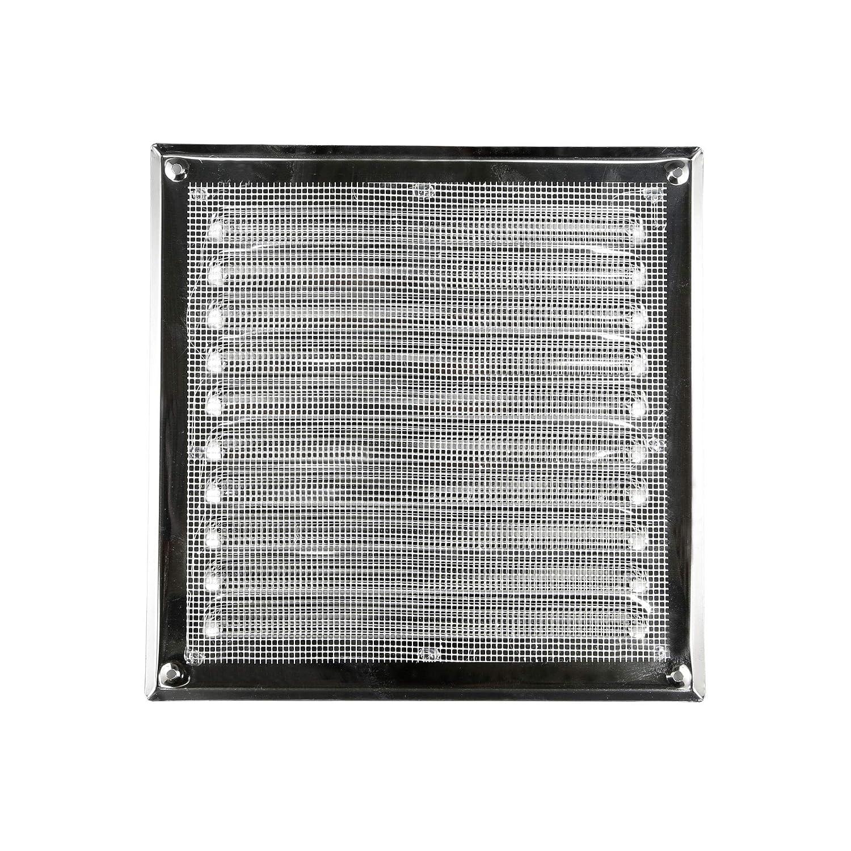AWENTA L/üftungsgitter Edelstahl eckig silber 195 x 195//250 x 250 mm