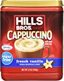 Hills Bros Cappuccino, Sugar-Free French Vanilla, 12 Ounce