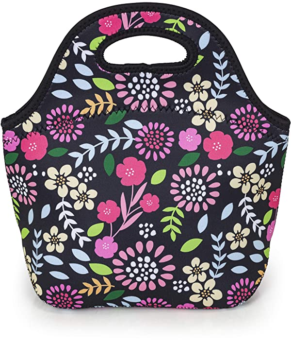VP Home Insulated Neoprene Lunch Tote Bag (Garden Party)