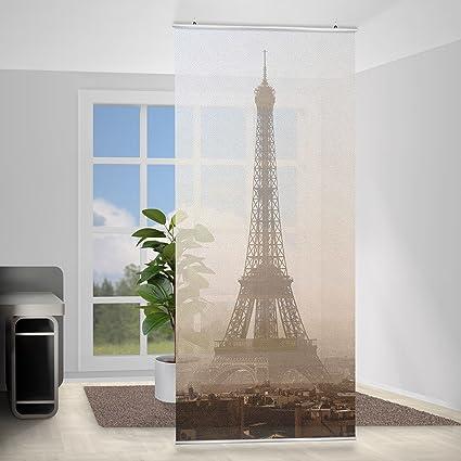 Panel japones Tour Eiffel, Tamaño: 250 x 120cm, panel japonés, paneles japoneses