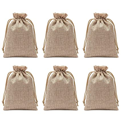 Axe Sickle Polyester Fibre Jute Gift Bag 5 9 X 7 9 Inch Drawstring And Lining Diy Craft Jewelry Pouch Storage Linen Burlap Jewelry Pouches Sacks