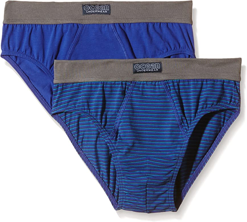 Abanderado AS05379 Slips, Azul Intenso Gris/Rayas Cintura Gris, M/48/M para Hombre: Amazon.es: Ropa y accesorios