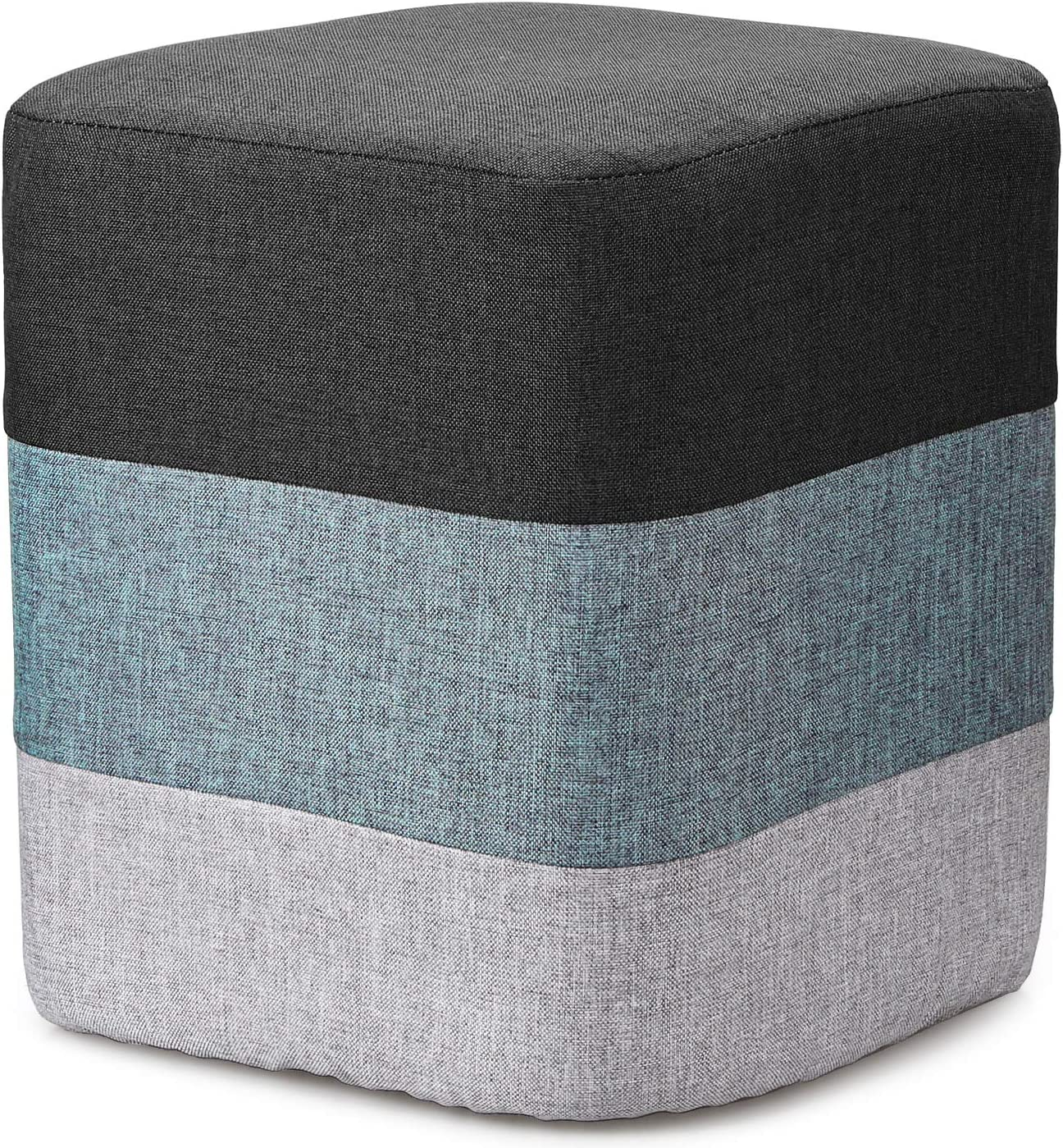 COQOFA Small Ottoman and Foot Rest Foot Stool Grey