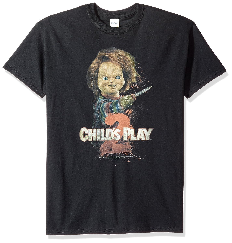 7760bb58 Amazon.com: Trevco Men's Child's Play 2 Here's Chucky T-Shirt: Clothing