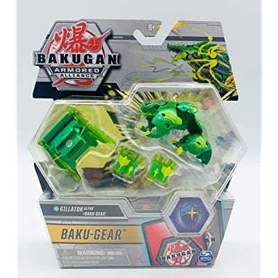 Bakugan Ultra, Ventus Gillator with Transforming Baku-Gear, Armored Alliance 3-inch Tall Collectible Action Figure…: Toys & Games