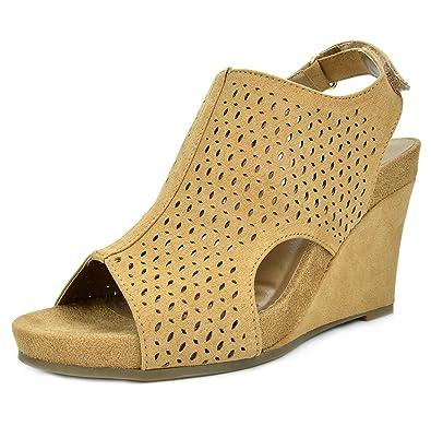 38226bdacf4a0 TOETOS Women's Solsoft Mid Heel Platform Wedges Sandals