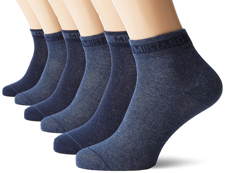 Mustang Socks Calzini alla Caviglia Uomo Pacco da 6